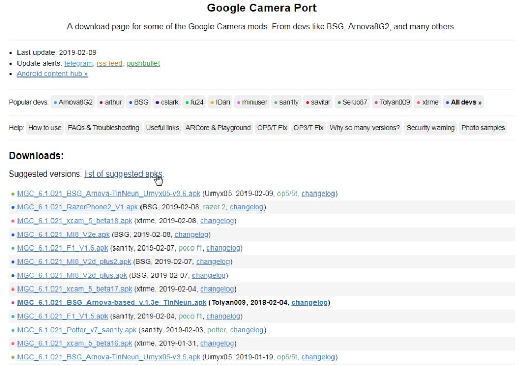 Где скачать Google Camera