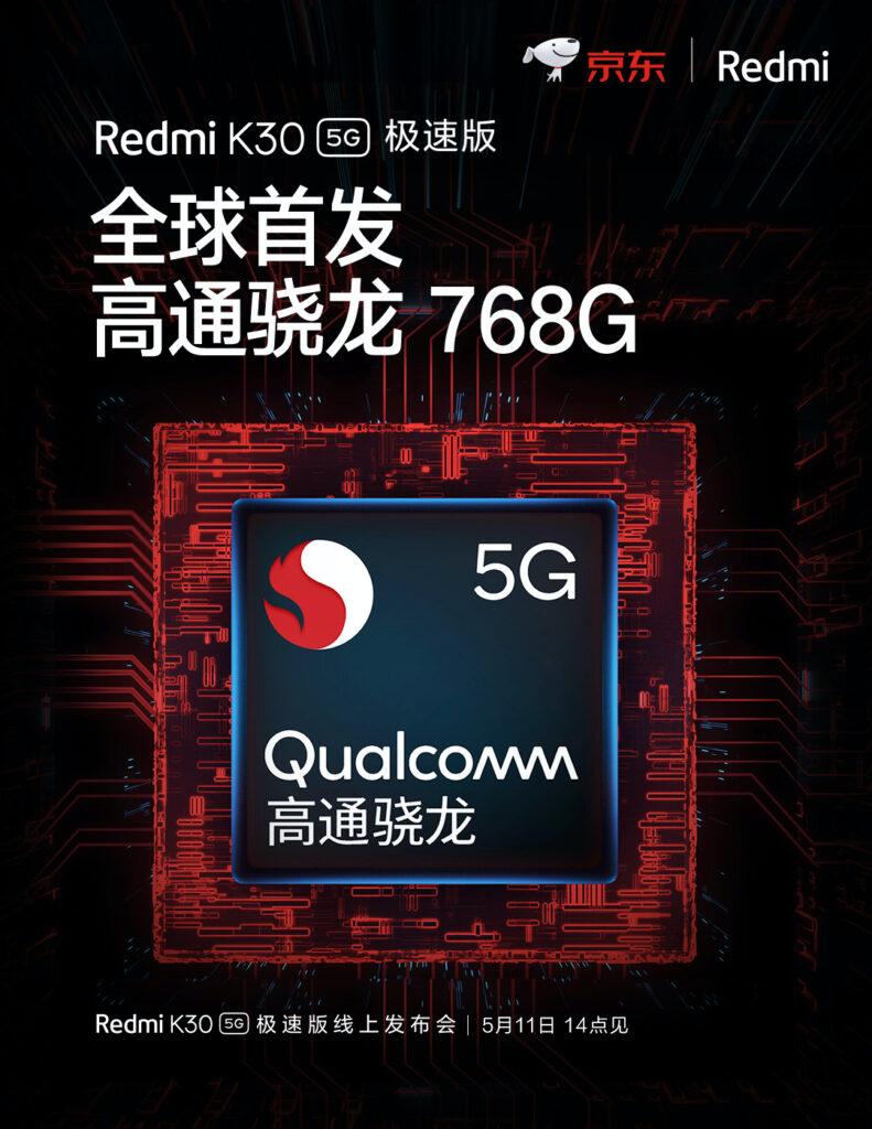 Redmi K30 5G na Snapdragon 768G