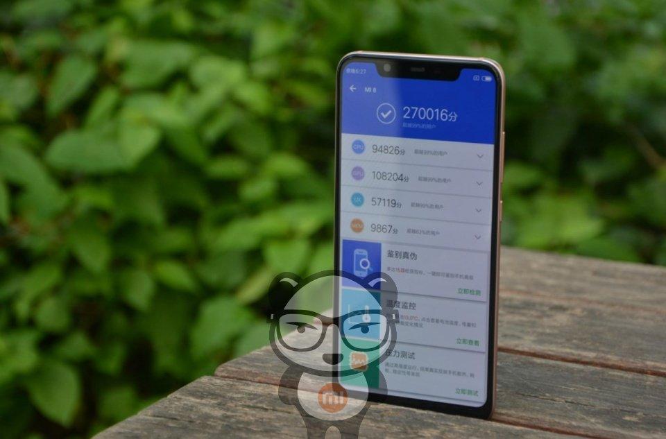 Результаты теста AnTuTu Xiaomi Mi 8